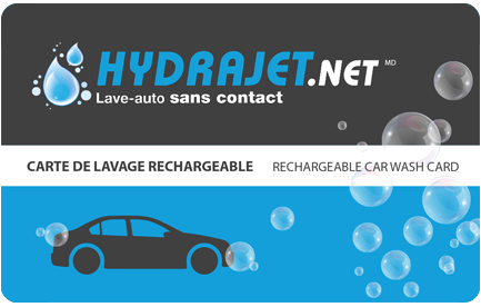 carte de lavage pour auto / carwash card